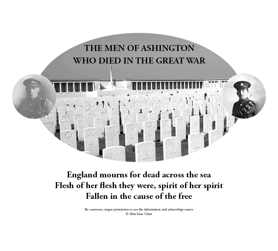 Ashington Memorial - The men who died in The Great War